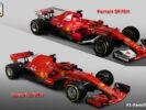 Ferrari SF71H VS Ferrari SF70H front right view
