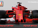 First Comparison Ferrari SF71H VS Ferrari SF70H