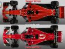 Ferrari SF71H VS Ferrari SF70H top view