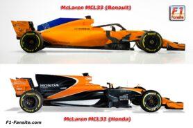 McLaren MCL32 VS McLaren MCL33 side view