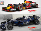 First comparison Red Bull RB14 & Red Bull RB13?
