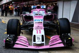 2018 Force India VJM11  F1 car launch pictures