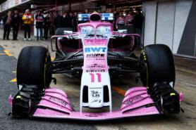 The Sahara Force India F1 VJM11. Formula One Testing, Day 1, Monday 26th February 2018. Barcelona, Spain.