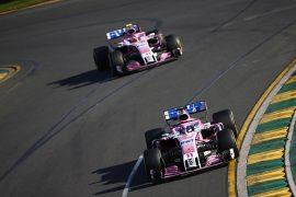 Force India on track Australian GP F1/2018
