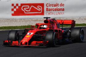 Sebastian Vettel (GER) Ferrari SF-71H at Formula One Testing, Day Two, Barcelona, Spain, 7 March 2018.
