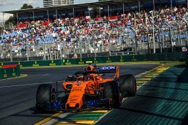 MELBOURNE GRAND PRIX CIRCUIT, AUSTRALIA - MARCH 23: Stoffel Vandoorne (BEL) McLaren MCL33 during the Australian GP at Melbourne Grand Prix Circuit on March 23, 2018 in Melbourne Grand Prix Circuit, Australia.