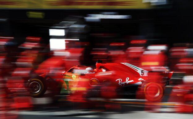 Sebastian Vettel Ferrari SF71H on track Australian GP F1/2018