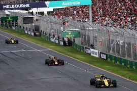Nico Hulkenberg (GER) Renault Sport F1 Team RS18. Australian Grand Prix, Sunday 25th March 2018. Albert Park, Melbourne, Australia.