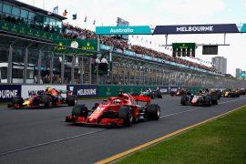 Starting grid Practice Australian GP F1/2018