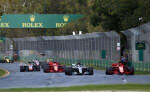 Ferrari VS Mercedes & Vettel VS Hamilton on Albert Park circuit, Melbourne Australia 2018
