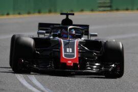 Romain Grosjean Haas on track Australian GP F1/2018