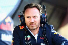 Red Bull Racing Team Principal Christian Horner looks on from the pitwall during day two of F1 Winter Testing at Circuit de Catalunya on March 7, 2018 in Montmelo, Spain.