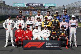 Driver group photo at Formula One World Championship, Rd1, Australian Grand Prix, Race, Melbourne, Australia, Sunday 25 March 2018.