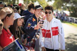 Charles Leclerc (MON) Alfa Romeo Sauber F1 Team fans selfie at Formula One World Championship, Rd1, Australian Grand Prix, Race, Melbourne, Australia, Sunday 25 March 2018.