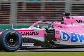 Sergio Perez (MEX) Sahara Force India F1 VJM11. Australian Grand Prix 2018. Albert Park, Melbourne, Australia.