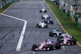 Sergio Perez (MEX) Sahara Force India F1 VJM11. Australian Grand Prix, Sunday 25th March 2018. Albert Park, Melbourne, Australia.