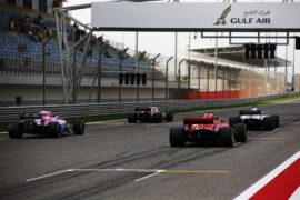 Cars on the grid Bahrain GP F1/2018