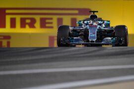 Lewis Hamilton Mercedes-AMG F1 W09 EQ Power+ at Bahrain Grand Prix, Qualifying, Bahrain International Circuit, Sakhir, Bahrain, Saturday 7 April 2018.