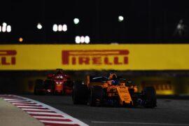 Fernando Alonso McLaren MCL33 at Bahrain Grand Prix, Practice, Bahrain International Circuit, Sakhir, Bahrain, Friday 6 April 2018.