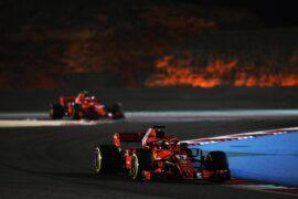 Sebastian Vettel Ferrari SF-71H at Bahrain Grand Prix, Practice, Bahrain International Circuit, Sakhir, Bahrain, Friday 6 April 2018.