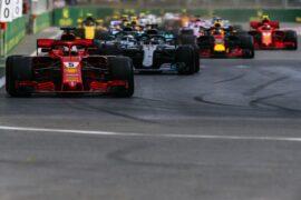 Sebastian Vettel on track Azerbaijan GP F1/2018