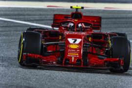 Kimi Raikkonen Ferrari SF71H Bahrain GP F1/2018