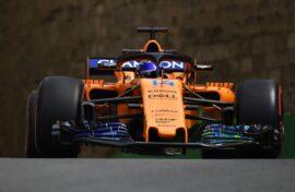 Fernando Alonso McLaren Azerbaijan GP F1/2018