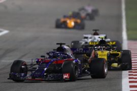 Brendon Hartley on track with other drivers Bahrain GP F1/2018