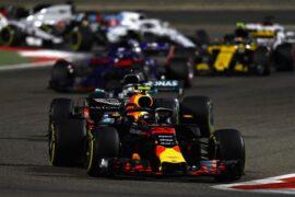 Max Verstappen on track Bahrain GP F1/2018