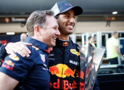 Daniel Ricciardo & Christian Horner Red Bull Chinese GP F1/2018