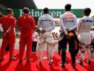Sebastian Vettel, Kimi Raikkonen, Lewis Hamilton, Daniel Ricciardo & Sergio Perez starting grid Chinese GP F1/2018