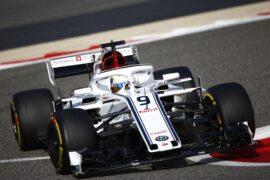 Marcus Ericsson Sauber C37 at Bahrain Grand Prix, Qualifying, Bahrain International Circuit, Sakhir, Bahrain, Saturday 7 April 2018.