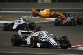 Marcus Ericsson Sauber C37 at Bahrain Grand Prix, Race, Bahrain International Circuit, Sakhir, Bahrain, Sunday 8 April 2018.