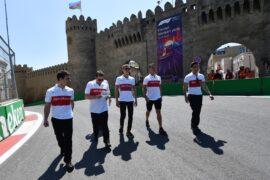 Marcus Ericsson Sauber F1 Team walks the track at Formula One World Championship, Rd4, Azerbaijan Grand Prix, 2018