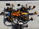 Shanghai International Circuit, Shanghai, China. Sunday April 15th, 2018. Stoffel Vandoorne, McLaren MCL33 Renault, makes a pit stop.