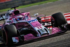 Sergio Perez (MEX) Sahara Force India F1 VJM11. Bahrain Grand Prix, Saturday 7th April 2018. Sakhir, Bahrain.