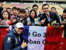 Esteban Ocon Sahara Force India F1 Team with fans. Chinese Grand Prix 2018.