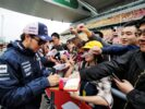 Sergio Perez Sahara Force India F1 signs autographs for the fans. Chinese Grand Prix 2018.