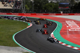 Lewis Hamilton Mercedes & other drivers on track at 2018 Spanish Grand Prix