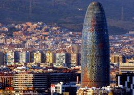 Barcelona skyline. Formula One World Championship, Spanish Grand Prix 2018