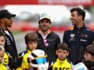 Lewis Hamilton, Fernando Alonso and Daniel Ricciardo during previews ahead of the Spanish GP F1/2018.