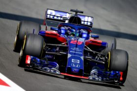 Brendon Hartley driving the (28) Scuderia Toro Rosso STR13 Honda on track during practice for the Spanish GP F1/2018.