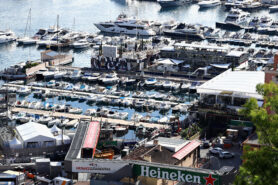 A general view of the Red Bull Racing Energy Station in the harbour during previews ahead of the Monaco GP F1/2018.
