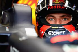 Max Verstappen of Netherlands and Red Bull Racing prepares to drive in the garage during practice for the Monaco Formula One Grand Prix 2018.