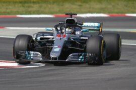 Lewis Hamilton, Mercedes W09 in Spain