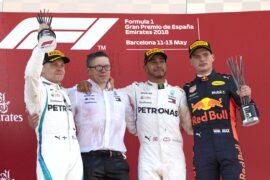 Formula One - Mercedes-AMG Petronas Motorsport, Spanish GP 2018. Lewis Hamilton, Valtteri Bottas