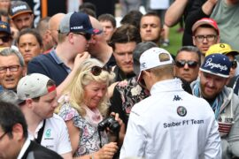 Marcus Ericsson Sauber F1 Team signs autographs for the fans at Formula One World Championship Spanish Grand Prix 2018