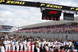 Drivers on the starting grid French GP F1/2018