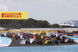 Cars on track French GP F1/2018