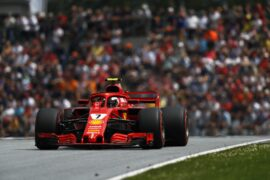 Kimi Raikkonen drving the Ferrari SF71H in Austria